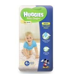 Mähkmed poistele HUGGIES Ultra Comfort Boys, 4 suurus, 60tk.