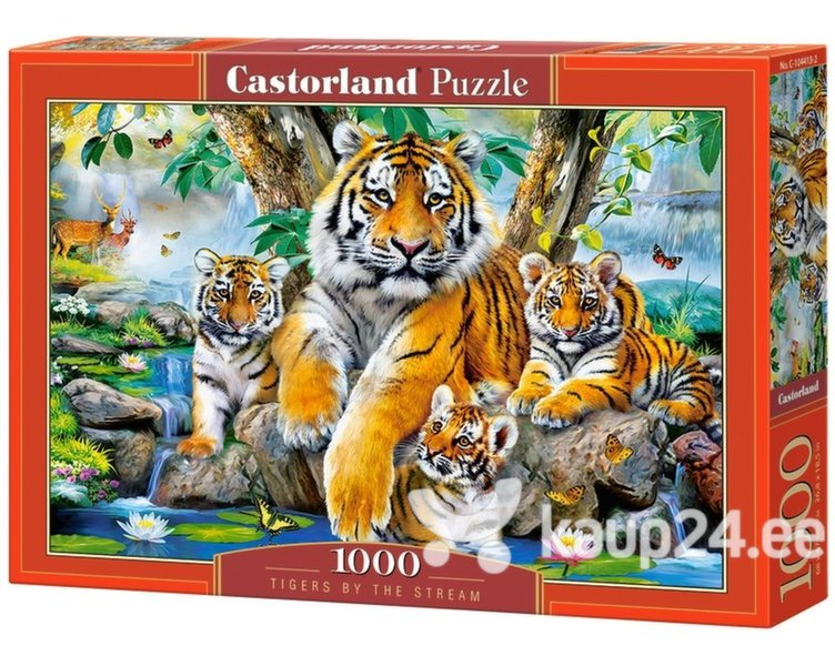 Pusle Puzzle Castorland Tigers by the Stream, 1000 osa