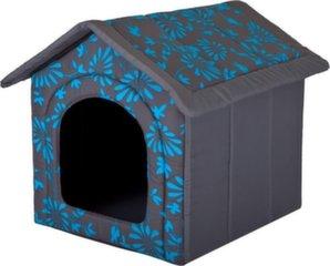 Maja-pesa Hobbydog R4 lilled, 60x55x60 cm, hall/sinine