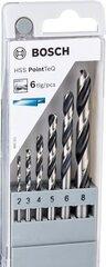 Metallipuuride komplekt Bosch HSS 2608577346, 6 tk