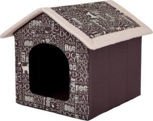 Maja-pesa Hobbydog R5 kirjad, 70x60x63 cm, pruun
