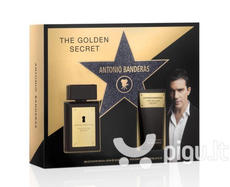 Komplekt Antonio Banderas The Golden Secret: tualettvesi EDT meestele 50 ml + raseerimisjärgne palsam100 ml
