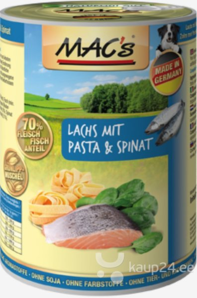 Koerakonserv Mac's Salmon with Pasta & Spinach 800 g