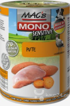 Koerakonserv Mac's Mono Sensitive Turkey 400 g