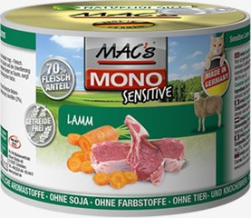Mac's Mono Sensitive Lamb (100%) + porgandid, 200 g