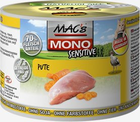 Mac's Mono Sensitive Turkey (100%) + porgandid, 400 g