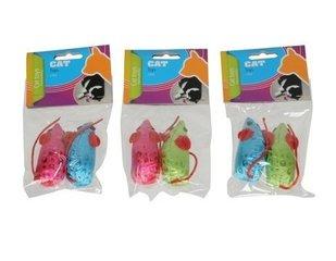 Mänguasjad kassidele, hiired, 2 tk hind ja info | Mänguasjad kassidele | kaup24.ee