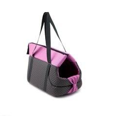 Comfy loomade transportkott Lilly 39x24x26 cm, must / roosa hind ja info | Transportkorvid, puurid | kaup24.ee