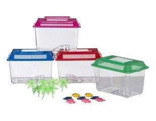 Akvaarium plastikust 27,5 x 17 x 15 cm, erinevad värvid