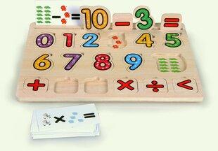 Puidust pusle numbrite ja matemaatiliste sümbolitega Top Bright hind ja info | Imikute mänguasjad | kaup24.ee