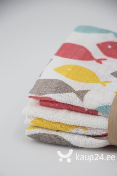 Marli salvrätikute komplekt Korlėja, punaste kaladega цена
