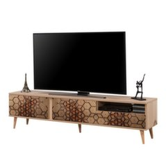 TV-laud Selsey Smartser 180 cm, pruun/kollane