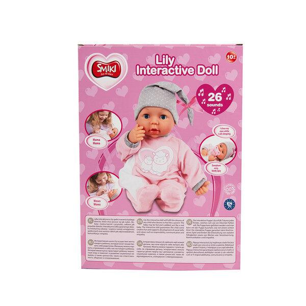 Интерактивная кукла младенец с аксессуарами и издающая звуки Smiki интернет-магазин