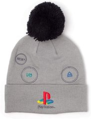 Tutimüts Beanie with Pompom: PlayStation - Retro Logo, Hall hind ja info | Tutimüts Beanie with Pompom: PlayStation - Retro Logo, Hall | kaup24.ee