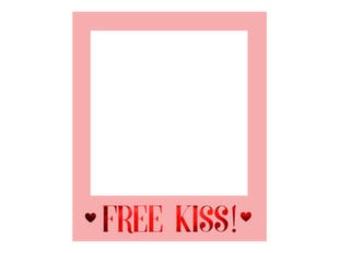Selfie raam Love is in the air Free Kiss, roosa, 50x59,5 cm, 1 tk