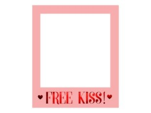 Selfie raam Love is in the air Free Kiss, roosa, 50x59,5 cm, 1 karp/50 tk