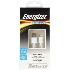 USB-kaabel Energizer Hightech Lightning, valge
