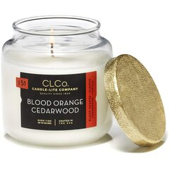 Lõhnaküünal kaanega Candle-Lite Blood Orange Cedarwood, 396 g