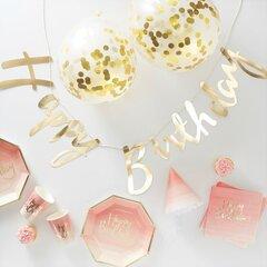 Party in a Box, kuldne ja roosa sünnipäeva komplekt Ginger Ray