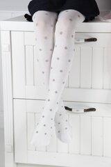 AMATA valged tüdrukute puuvillased sukkpüksid hind ja info | AMATA valged tüdrukute puuvillased sukkpüksid | kaup24.ee