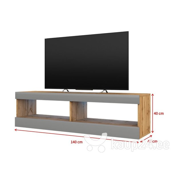 TV laud Selsey Dean LED 140 cm, pruun/hall