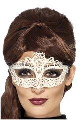 Белая маска кружевная, мягкая