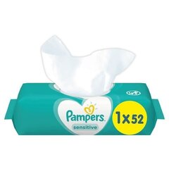 Salvrätikud PAMPERS Sensitive, 52 tk