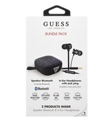 Guess GUBPERSPBK Bluetooth Speaker System + Headsets (Bundle Pack), Must hind ja info | Guess Arvutid ja IT- tehnika | kaup24.ee