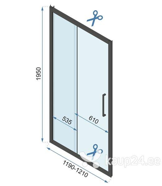 Душевая дверь REA Rapid Slide Black mat, 100, 110, 120, 130, 140, 150, 160 cм