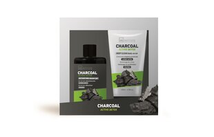 Komplekt IDC Institute Charcoal: dušigeel 120 ml + kehakoorija 100 ml