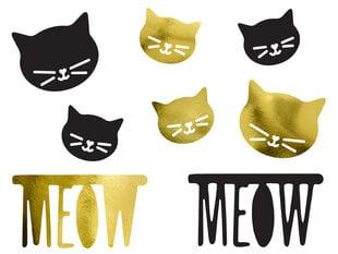 Бумажная декорация Cat mix (1 упак / 8 шт.)