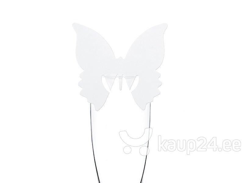 Nimekaart Butterfly 7.5x8 cm (1 karp/ 36 pakki) (1 pakk/ 10 tk)