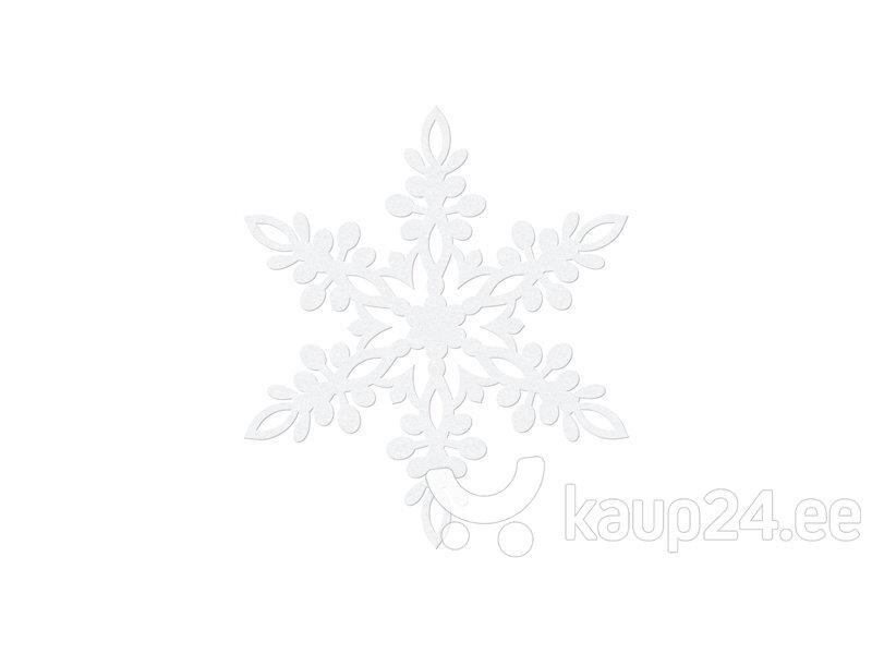 Бумажная декорация Snowflake, белая, 9 см (1 кор/ 50 упак) (1 упак /10 шт)