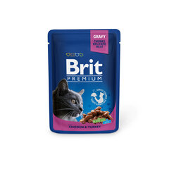 Konserv kassidele kotis Brit Premium Chicken&Turkey 100g x 24 tk