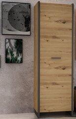Esikukapp Forte Flash 1D, pruun/hall hind ja info | Esikukapid | kaup24.ee