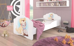 Lastevoodi ADRK Furniture Casimo Dog and Cat, 160x80cm hind ja info | Lastevoodid | kaup24.ee