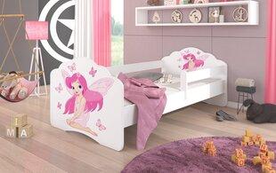 Lastevoodi eemaldatava kaitsega ADRK Furniture Casimo Girl with Wings, 80x160 cm