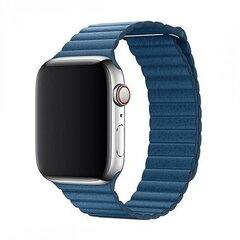 Nahast rihm Devia Elegant sobib Apple Watch(44mm), Sinine hind ja info | Nutikellade ja nutivõrude tarvikud | kaup24.ee