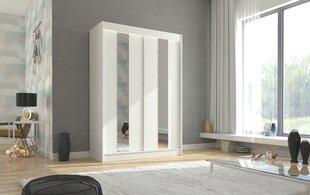 Riidekapp Adrk Furniture Balton 150 cm, valge hind ja info | Kapid | kaup24.ee