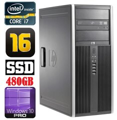 HP 8100 Elite MT i7-860 16GB 480SSD NVS450 DVD WIN10Pro hind ja info | HP 8100 Elite MT i7-860 16GB 480SSD NVS450 DVD WIN10Pro | kaup24.ee