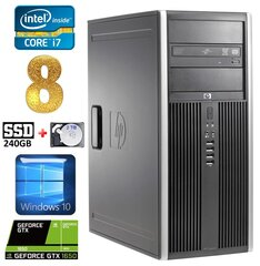HP 8100 Elite MT i7-860 8GB 240SSD+2TB GTX1650 4GB DVD WIN10 hind ja info | HP 8100 Elite MT i7-860 8GB 240SSD+2TB GTX1650 4GB DVD WIN10 | kaup24.ee