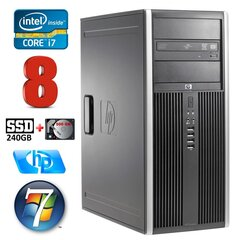 HP 8100 Elite MT i7-860 8GB 240SSD+500GB NVS450 DVD WIN7Pro hind ja info | HP 8100 Elite MT i7-860 8GB 240SSD+500GB NVS450 DVD WIN7Pro | kaup24.ee