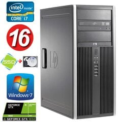 HP 8100 Elite MT i7-860 16GB 120SSD+2TB GTX1650 4GB DVD WIN7Pro hind ja info | HP 8100 Elite MT i7-860 16GB 120SSD+2TB GTX1650 4GB DVD WIN7Pro | kaup24.ee