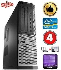 DELL 790 DT i5-2500 4GB 240SSD+2TB DVDRW WIN10Pro hind ja info | Lauaarvutid | kaup24.ee