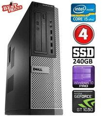 DELL 790 DT i5-2500 4GB 240SSD GT1030 2GB DVDRW WIN10Pro hind ja info | DELL 790 DT i5-2500 4GB 240SSD GT1030 2GB DVDRW WIN10Pro | kaup24.ee