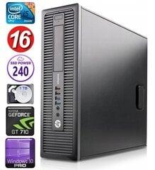 HP 600 G1 SFF i5-4570 16GB 240SSD+1TB GT710 2GB WIN10Pro hind ja info | HP 600 G1 SFF i5-4570 16GB 240SSD+1TB GT710 2GB WIN10Pro | kaup24.ee