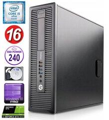 HP 600 G1 SFF i5-4570 16GB 240SSD+1TB GTX1650 4GB WIN10Pro hind ja info | HP 600 G1 SFF i5-4570 16GB 240SSD+1TB GTX1650 4GB WIN10Pro | kaup24.ee