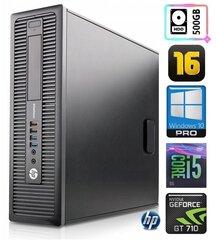 HP 600 G1 SFF i5-4570 16GB 500GB GT710 2GB WIN10Pro hind ja info | HP 600 G1 SFF i5-4570 16GB 500GB GT710 2GB WIN10Pro | kaup24.ee