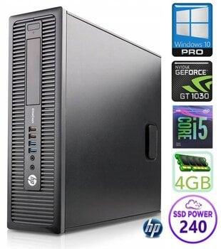 HP 600 G1 SFF i5-4570 4GB 240SSD GT1030 2GB WIN10Pro hind ja info | Lauaarvutid | kaup24.ee