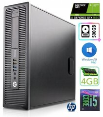 HP 600 G1 SFF i5-4570 4GB 500GB GTX1650 4GB WIN10Pro hind ja info | HP 600 G1 SFF i5-4570 4GB 500GB GTX1650 4GB WIN10Pro | kaup24.ee